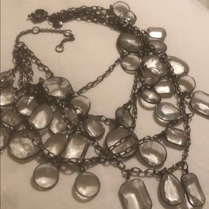 JCREW 5 chains crystal necklace